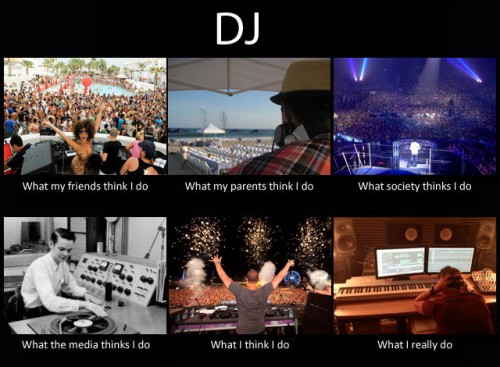 What my friends think I do what I actually do - DJ