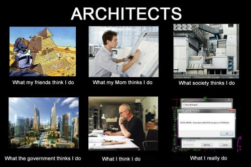 What my friends think I do what I actually do - Architects