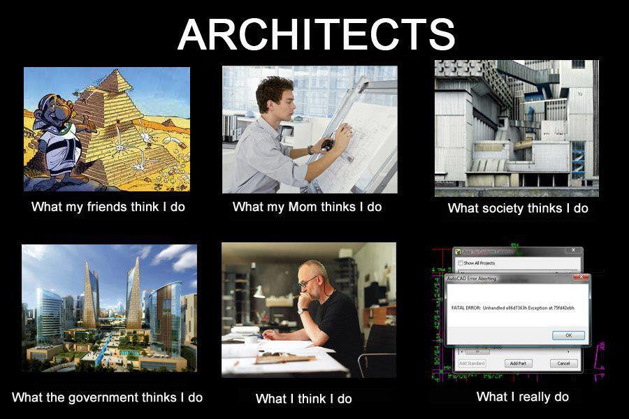 what my friends think i do what i actually do architects