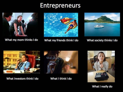 What my friends think I do what I actually do entrepreneur
