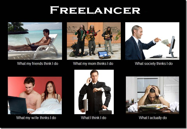 What my friends think I do what I actually do - Freelancer