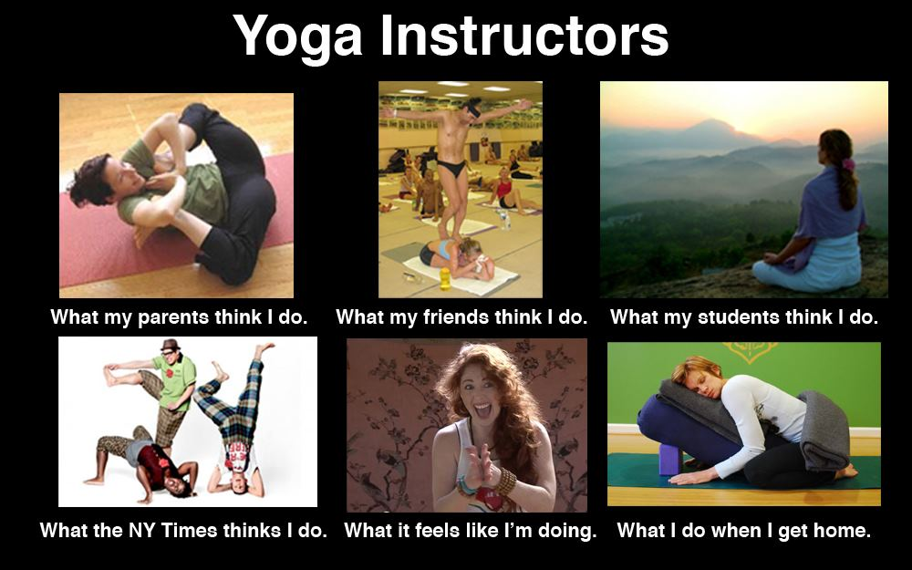 What my friends think I do what I actually do - Joga Instructors