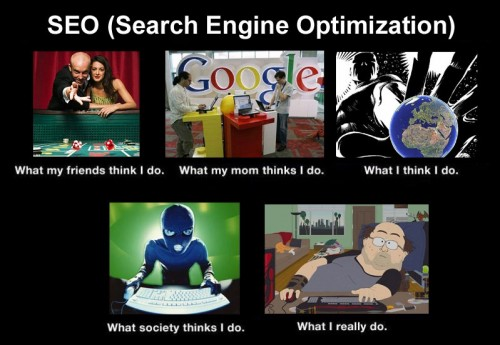 What my friends think I do what I actually do - SEO