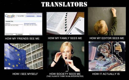 what my friends think I do what I actually do - Translators