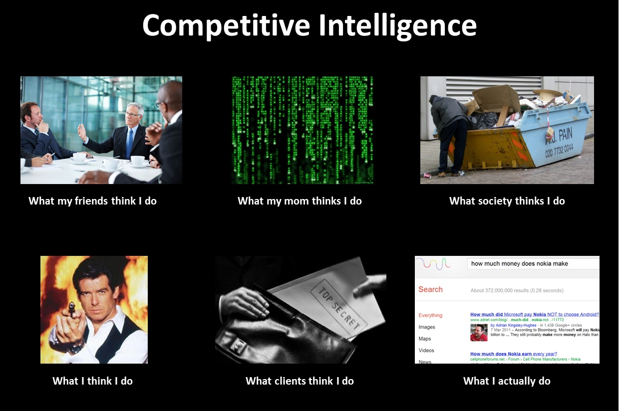 What my friends think I do - Competitive Intelligence