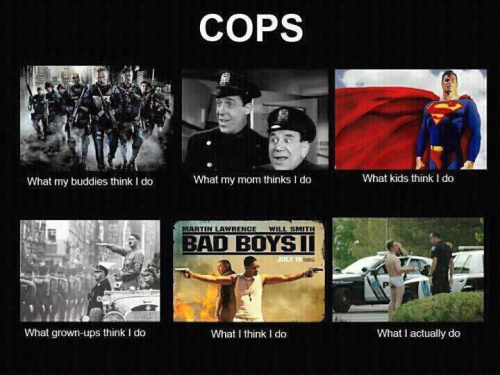 What my friends think I do what I actually do - Cops