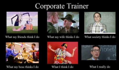 What my friends think I do what I actually do - Corporate Trainers