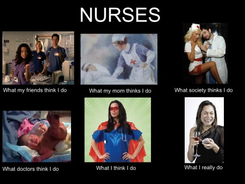 What my friends think I do what I actually do - Nurses