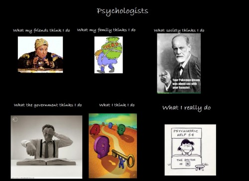 What my friends think I do what I actually do - Psychologists