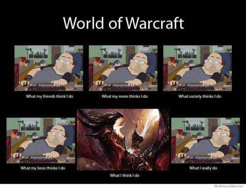 What my friends think I do what I actually do - World of Warcraft