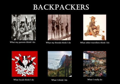 What my friends think I do what I actually do - Backpackers