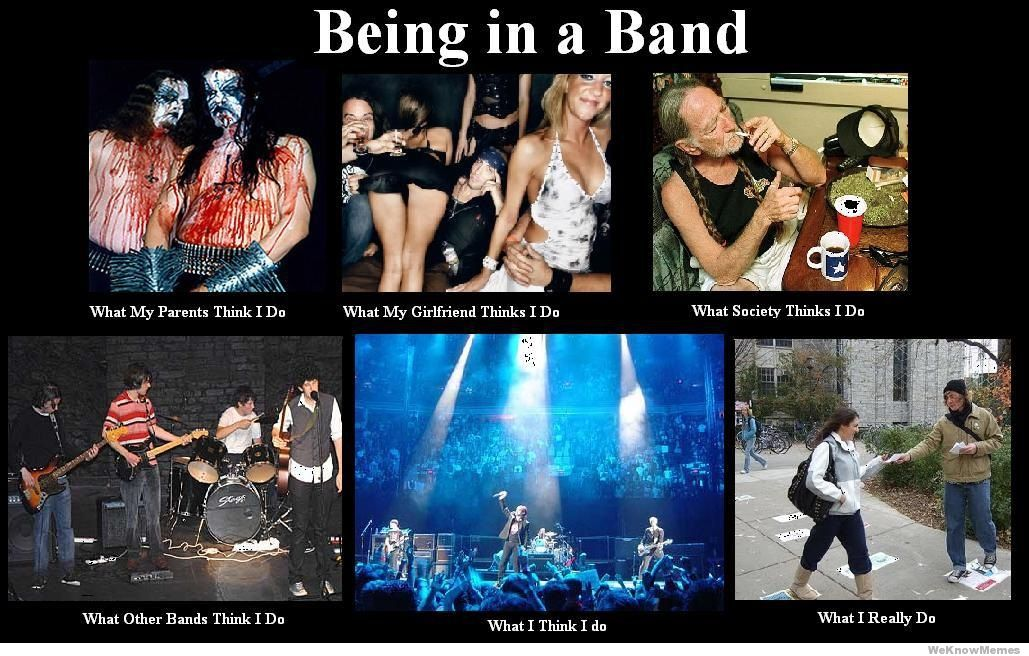 What my friends think I do what I actually do - Being in a Band