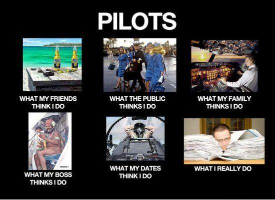 What my friends think I do what I actually do - Pilots