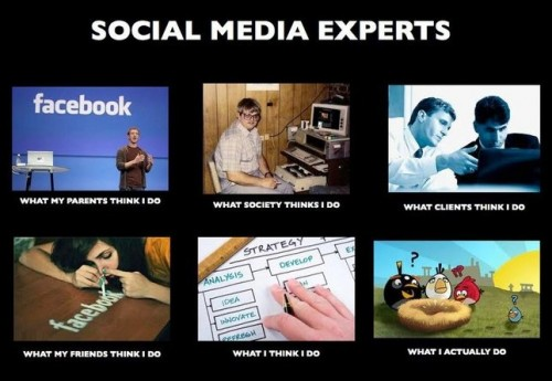What my friends think I do what I actually do - Social Media Expert