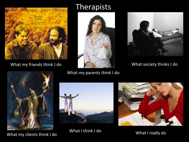 What my friends think I do what I actually do - Therapists