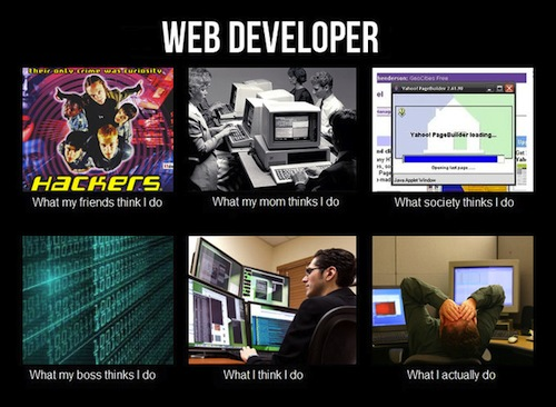 What my friends think I do what I actually do - Web Developer