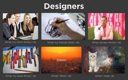 What my friends think I do what I actually do - Designers
