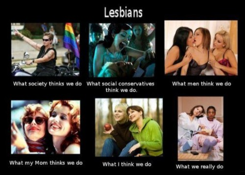 What my friends think I do what I actually do - Lesbians
