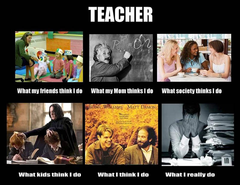 What my friends think I do what I actually do - Teacher