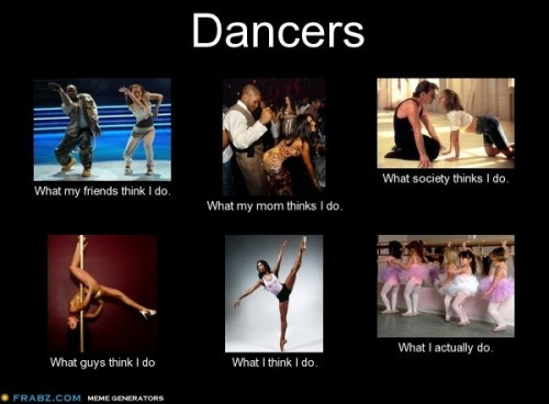 What my friends think I do what I actually do - Dancers