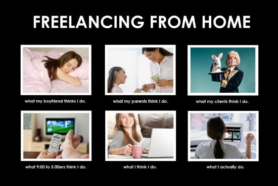 What my friends think I do what I actually do - Freelancing from Home
