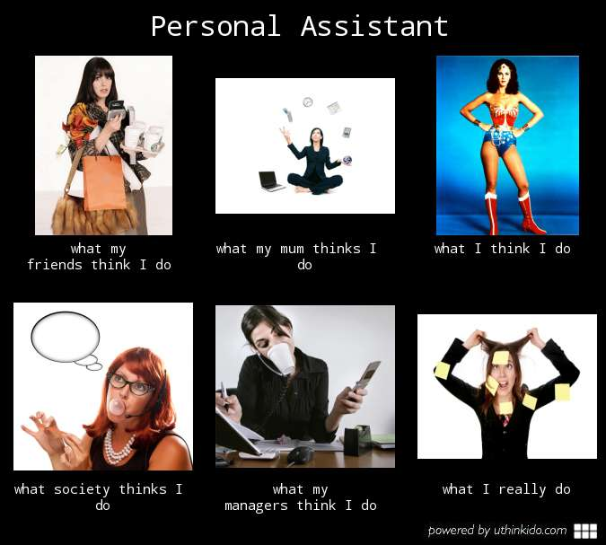 What my friends think I do what I actually do - Personal Assistant